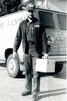 Raymond Petroro of Allyn Oil Company picture from 1971